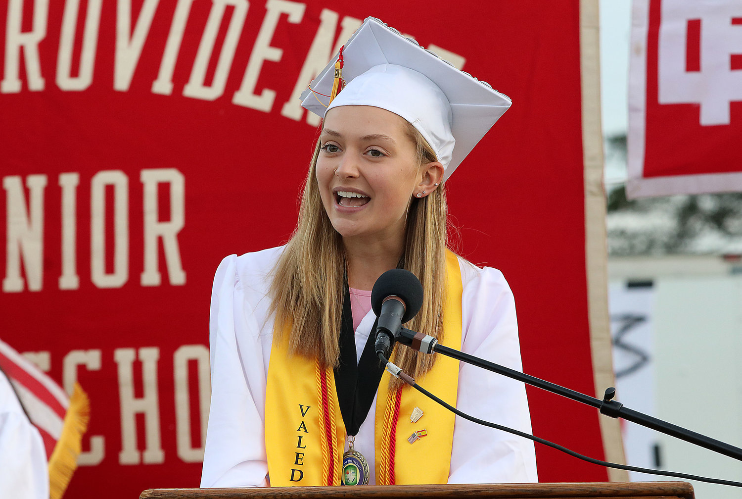 EPHS Class of 2019 valedictorian Ellen Phillips delivers her commencement address.