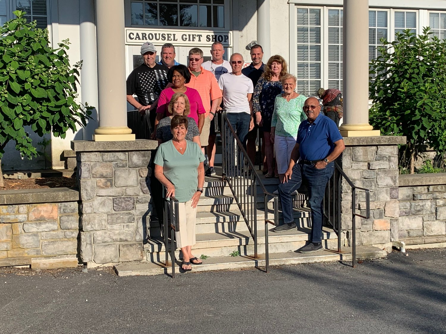 "Some of the current FOTA members include (in descending order, left to right) Gregg Amore, Steve Perry, Lisa Almada, Missy Andrade, Stephanie Vinhateiro; Mark Saunders; Kevin Monagle, Dr. Tom Antonian; Paul Pimental, Christy Carroll, Millie Morris and Clarence ""Junior"" Butler."