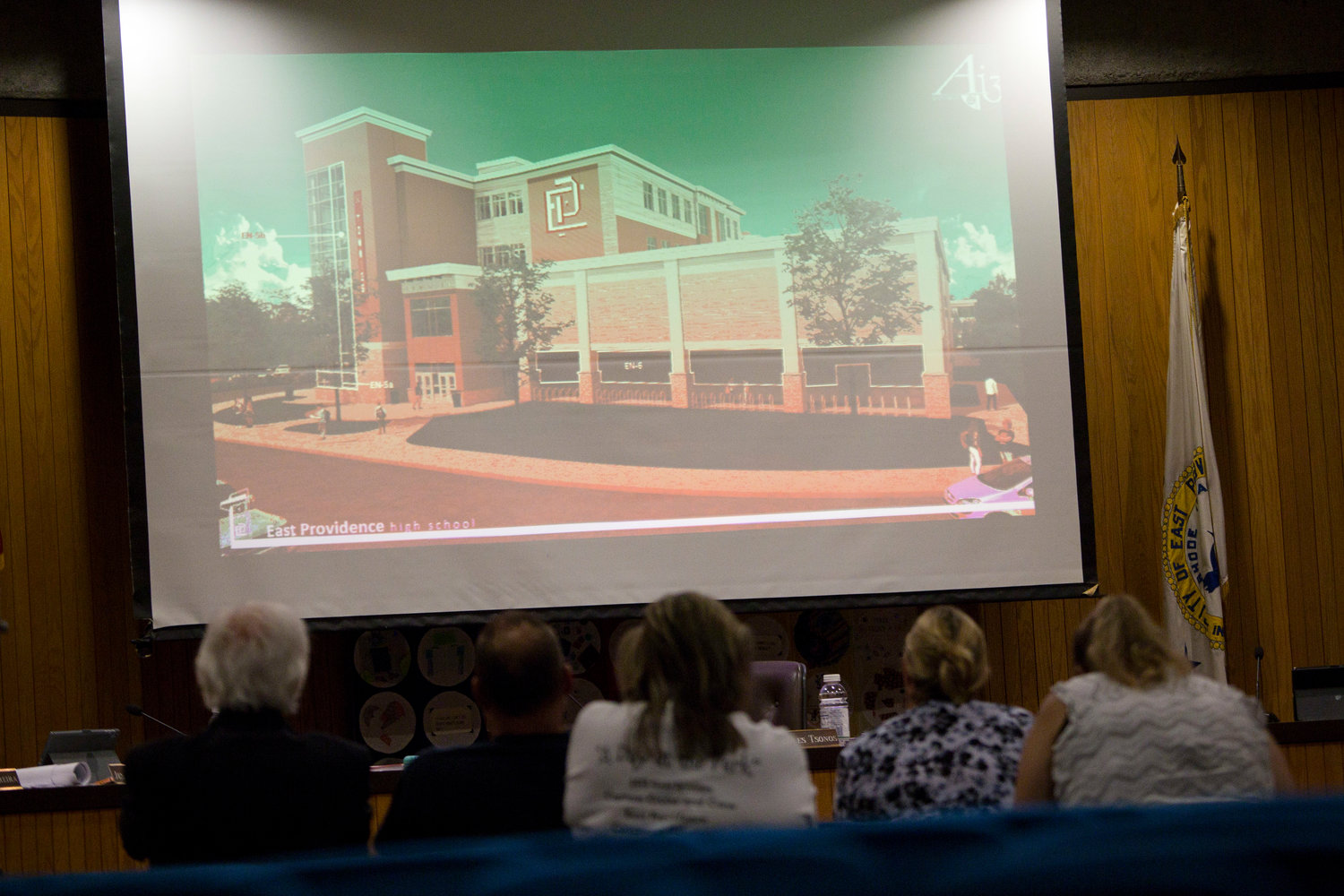 A view of the new EPHS at the August 13 School Committee meeting.