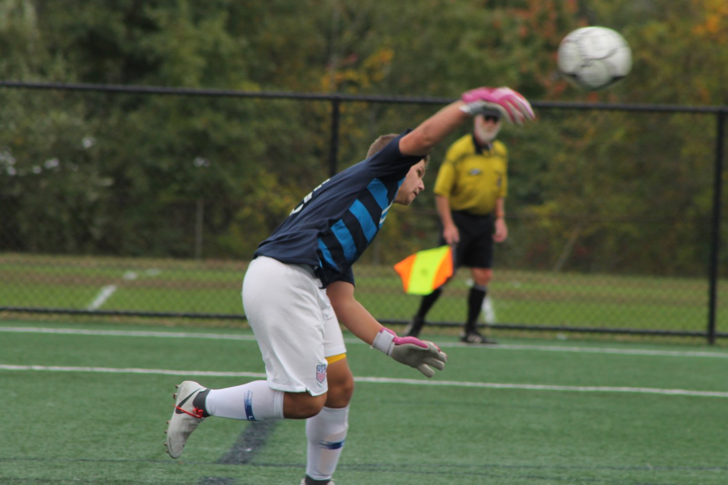 Junior keeper Andrew Mongeon is one of several returning starters to the 2019 East Providence High School boys' soccer team.