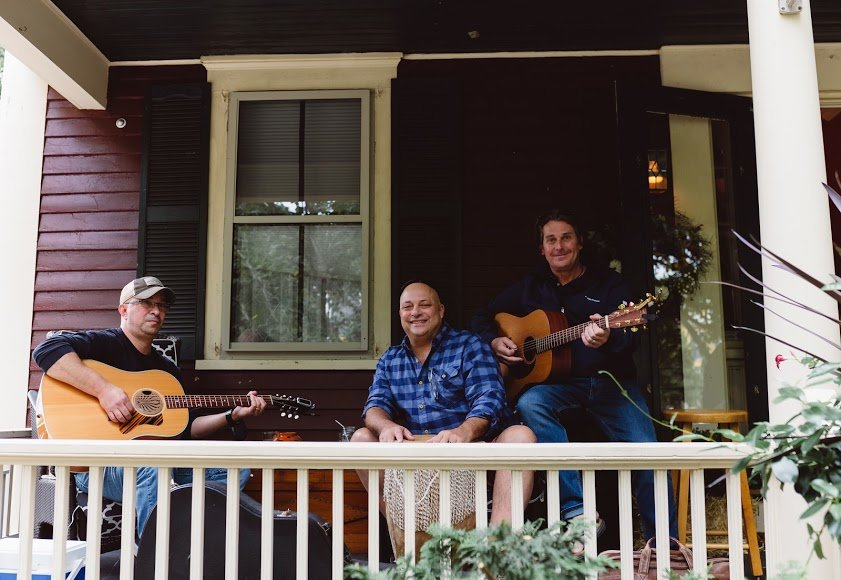Local band Trinity played on a High Street porch in the 2018 inaugural PorchFest.