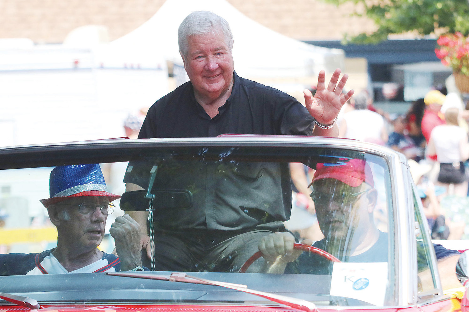 The Rev. Barry Gamache at a previous Fourth of July parade.