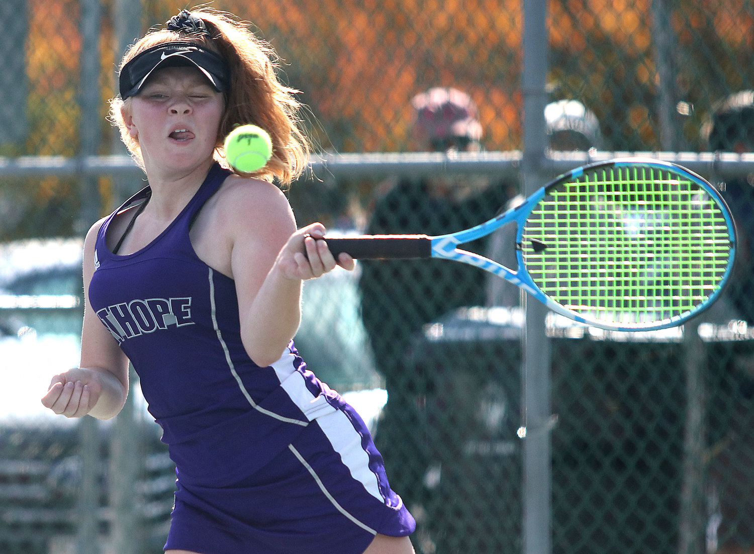 No. 1 singles player Meg Dolan won her match in three sets over Amelia Campanella of Ponaganset.