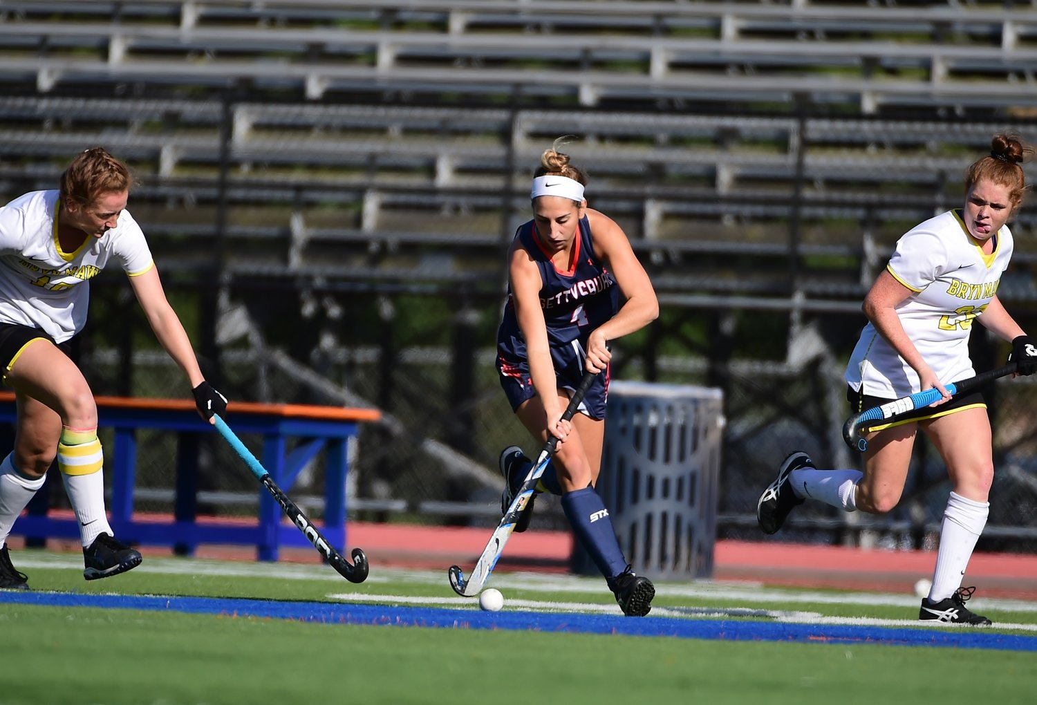 Barrington native Julia Soares (center) has been named to the All-Centennial Conference second team for field hockey. Julia started all 20 games for Gettysburg College this fall and helped lead the Bullets to an 11-9 record overall.