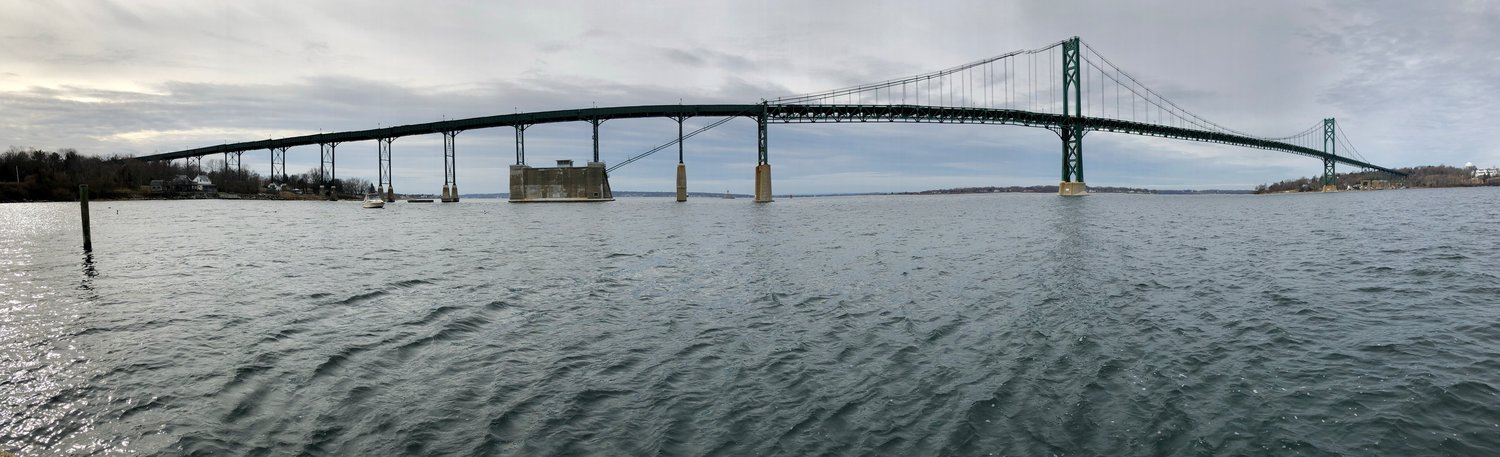 This photo of the Mt. Hope Bridge was taken Sunday morning, Dec. 1, at Mt. Hope Park in Portsmouth.