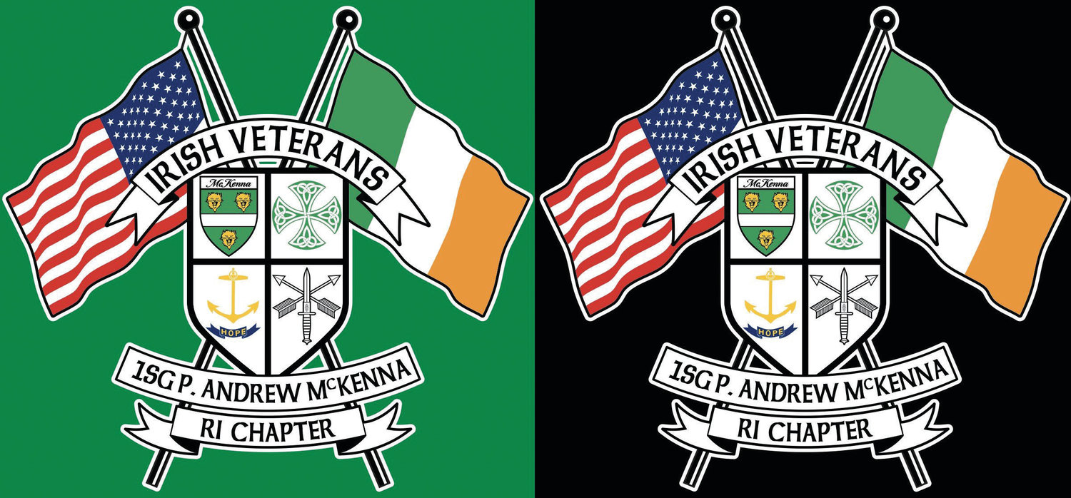The logo for the newly formed Irish veterans chapter in Rhode Island.