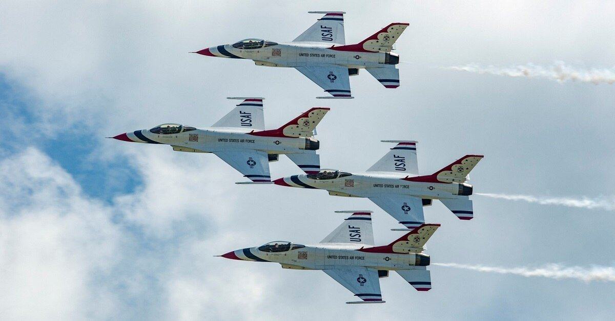 The United States Air Force Thunderbitds are the new headlining performers for the return of the National Guard Air Show in June 2020.