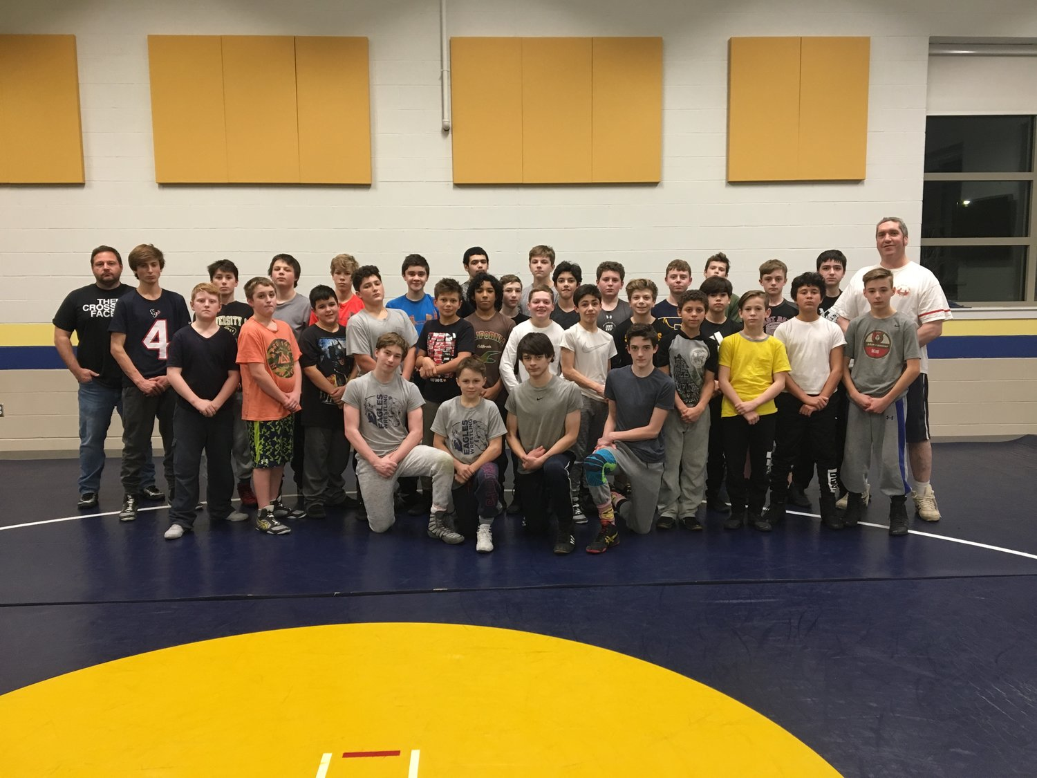 The Barrington Middle School wrestling team has enjoyed a very successful regular season and hopes to bring home medals at postseason tournaments.