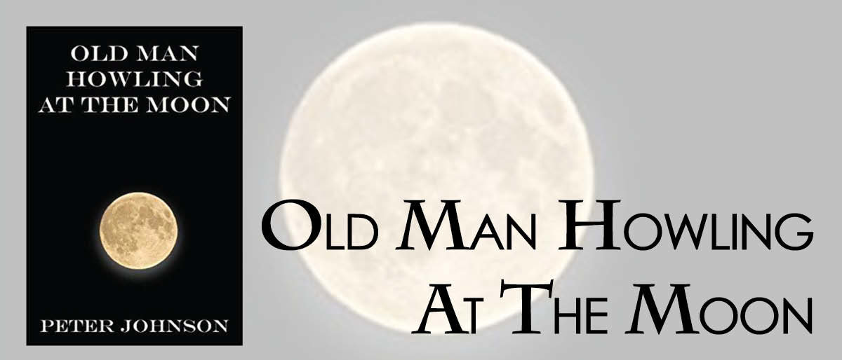 "Barrington resident Peter Johnson said his book, ""Old Man Howling at the Moon"" is really a book of complaints written from the perspective of ""Grumpy Old Everyman."""