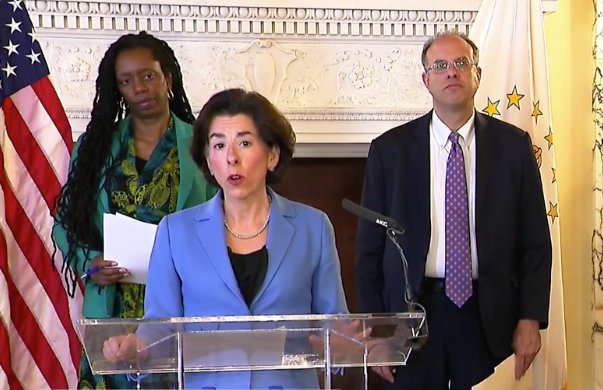 Governor Raimondo announced a new program to gather information from all people visiting Rhode Island from New York.