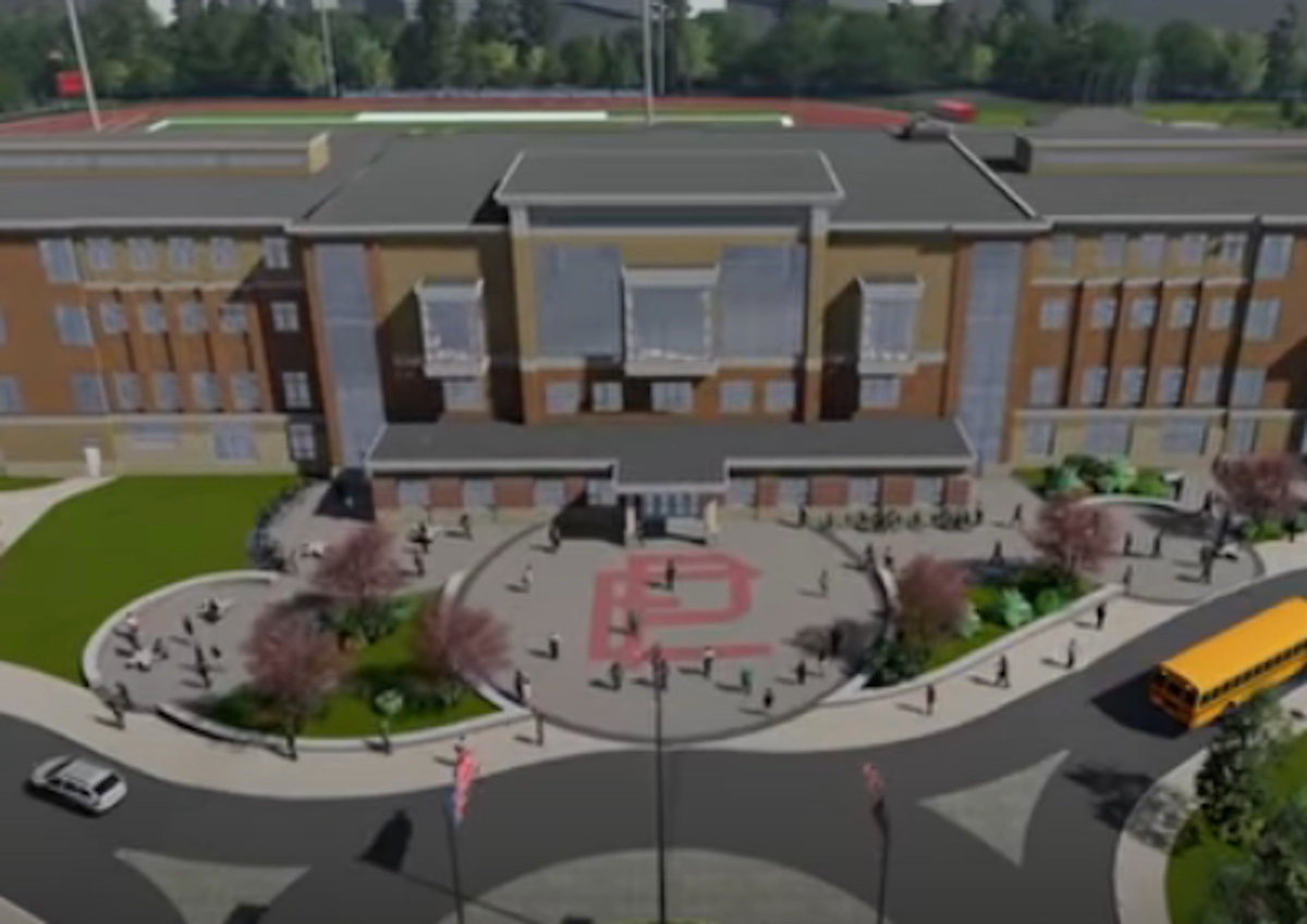 "The bricks sold during the initial offering by the Friends of Townie Athletics organization will surround the interlocking ""E.P."" located at the front entryway (shown in the rendering above) of the new East Providence High School."