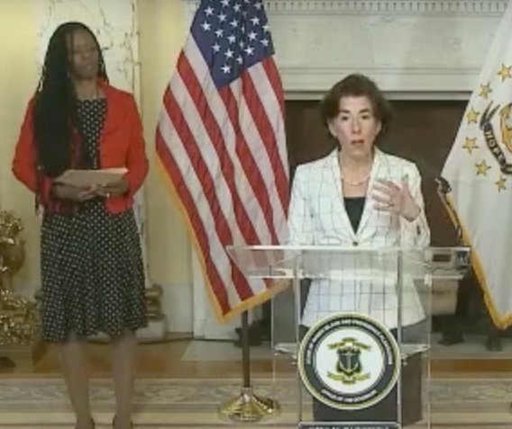 Governor Raimondo announces 220 more coronavirus cases, 143 people now in the hospital at her April 8 briefing.