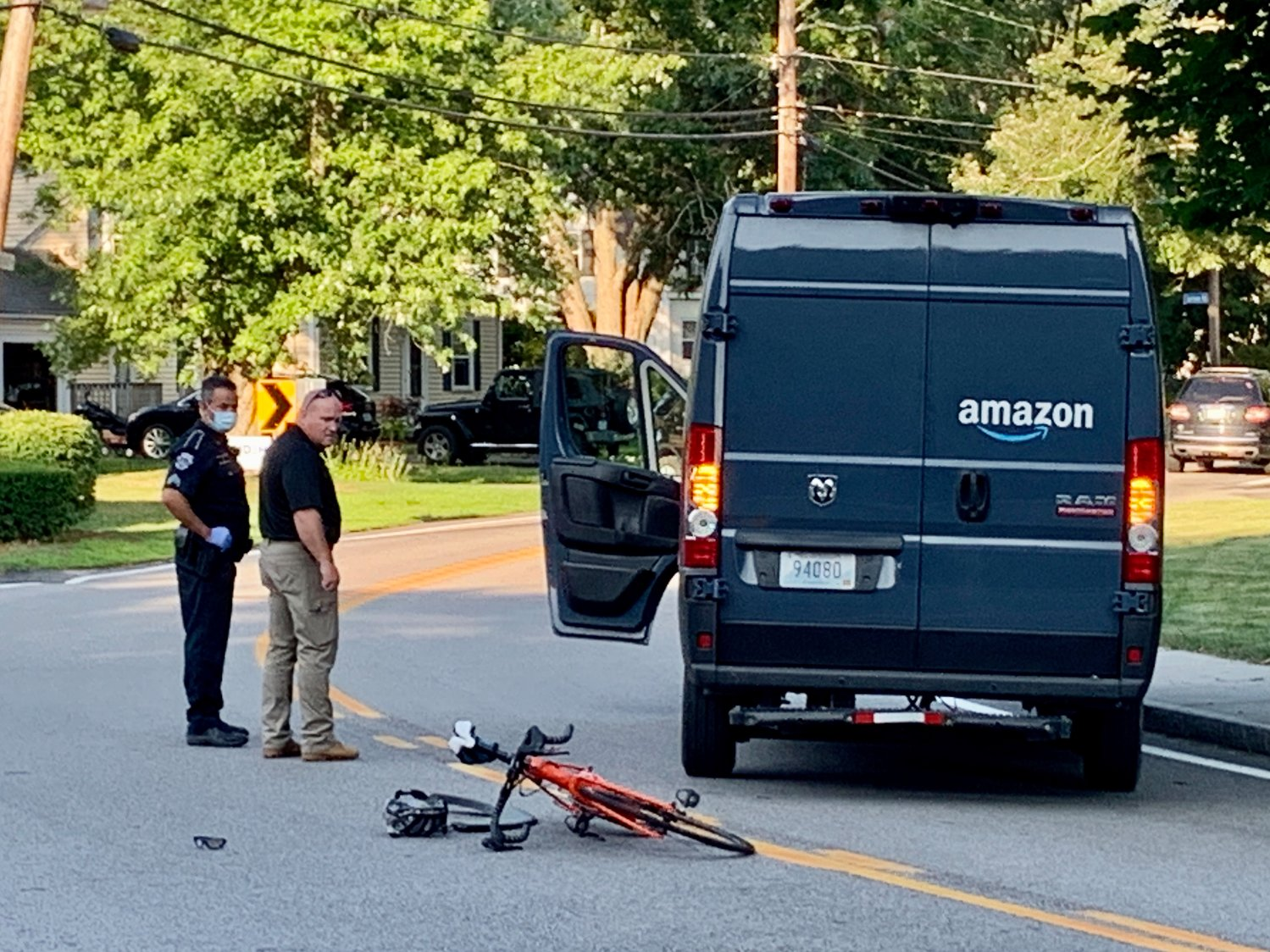 Police investigate an accident that occurred at the intersection of Massasoit Avenue and Martin Avenue late Thursday afternoon. A Barrington man was seriously injured in the crash.