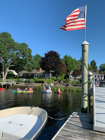 Boaters enjoy a July 4 concert offered along the Barrington River by The Contusion Band. A second show will be offered on Saturday, Aug. 29 from 4 to 6 p.m.