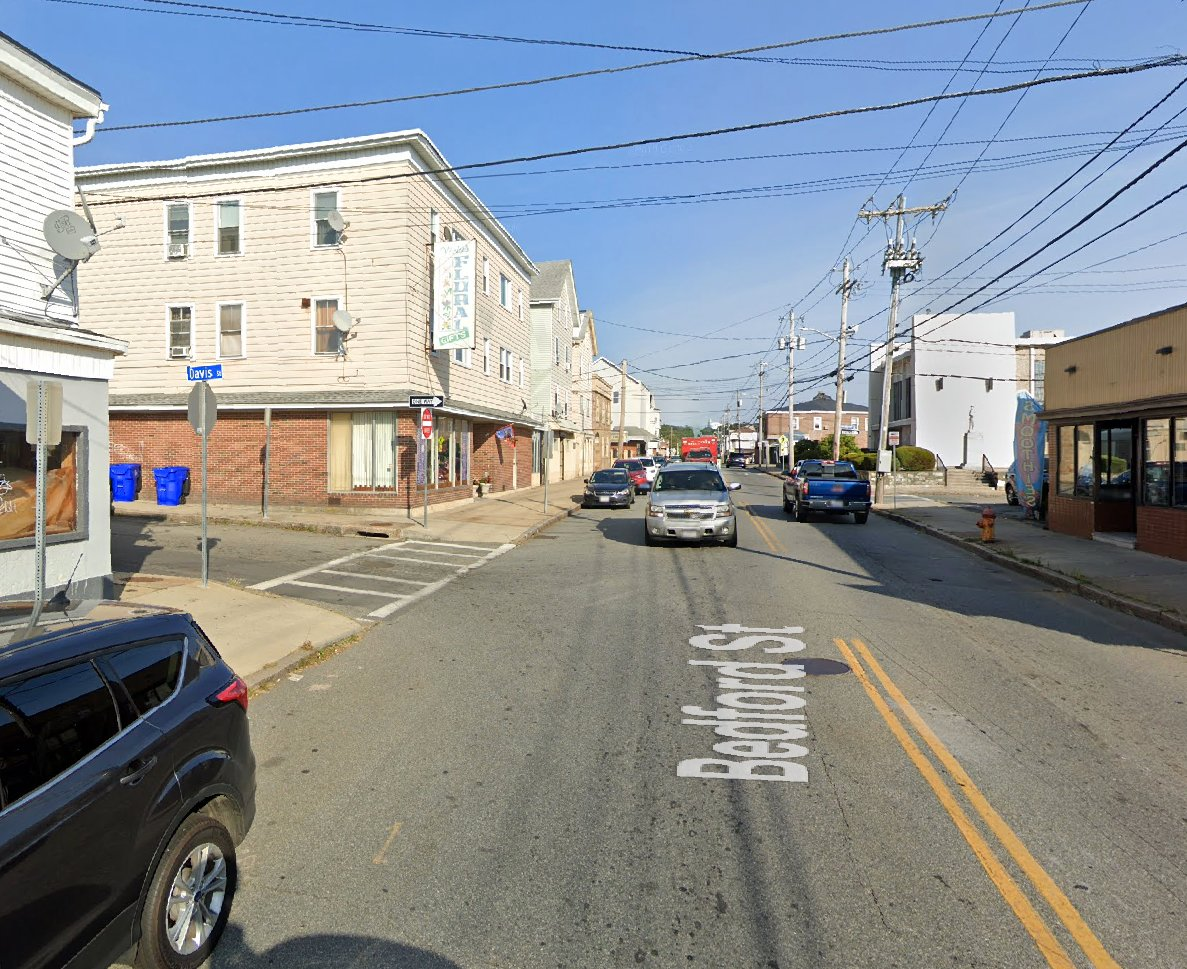 The area of Bedford and Davis streets in Fall River a few blocks north of Route 95.