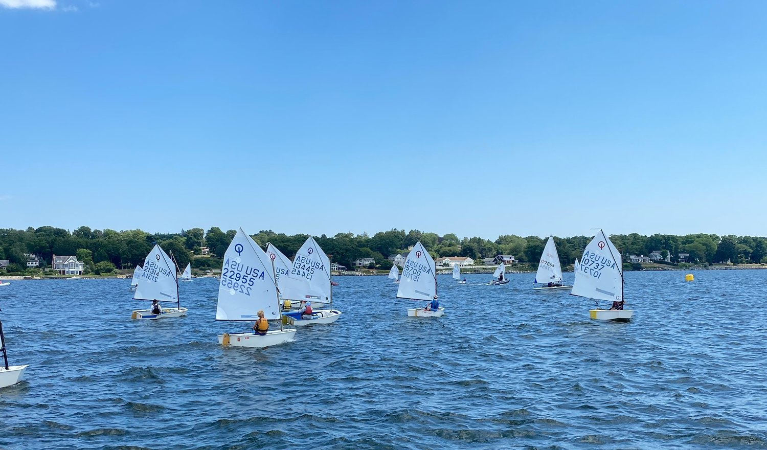 Dozens of sailors turned out to compete in the recent Barrington Invitational.