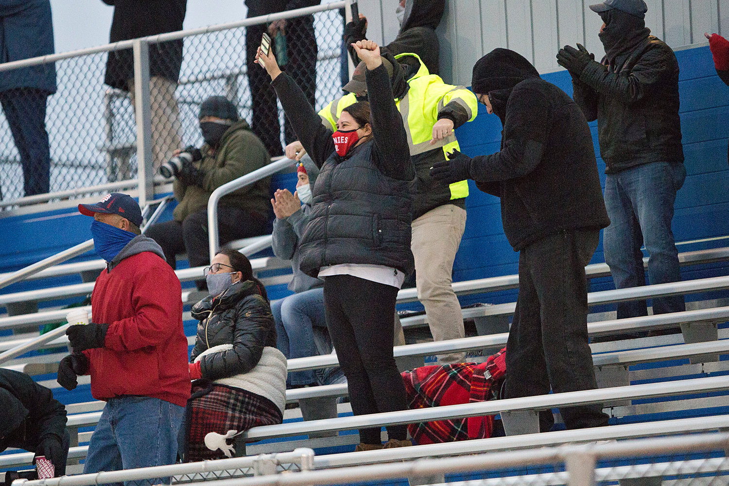 Townie fans cheer in the stand after Jordyn Brogan scores a second goal for the Townies.