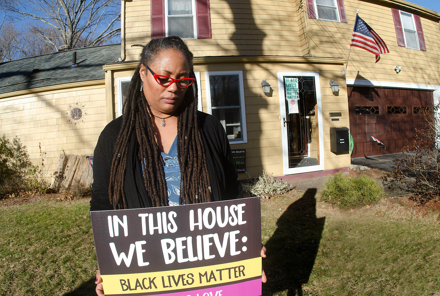 Candace Breen was one of a handful of residents who recently received a letter from another resident telling them to remove Biden and Black Lives Matter signs from their yards.