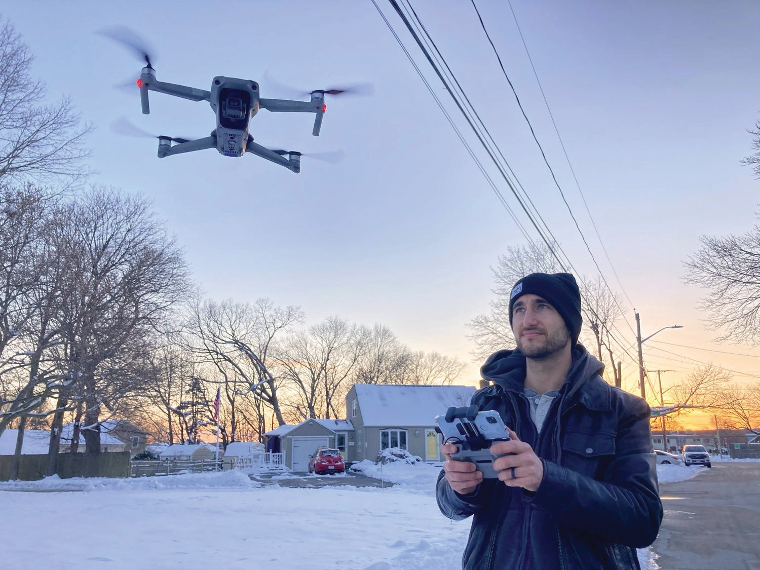 Pilot Matt Celeste has been flying drones commercially for several years and uses them not just in the wedding and event industry, but in real estate property listings across the state.