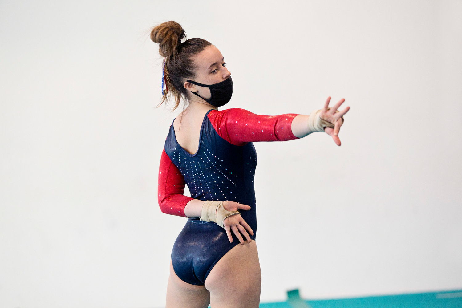 The Patriots' Fiona Daly earned a 7.75 score in the floor exercise.