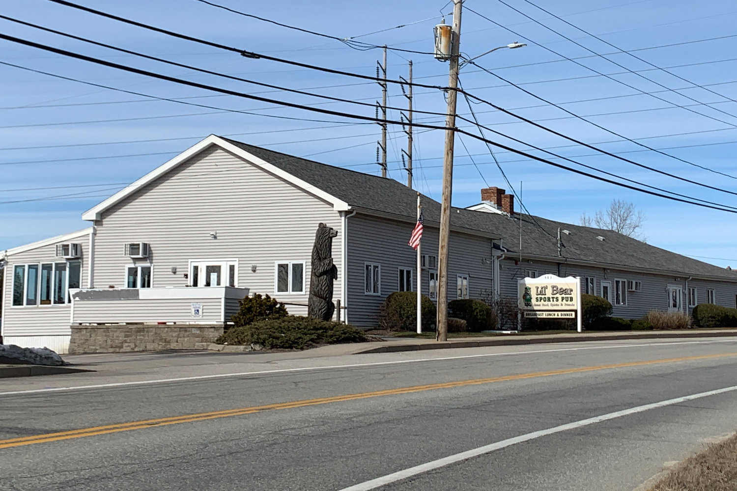 Lil' Bear Sports Lounge at 983 Main Road in Tiverton. The building will next be converted for use as a child care center.