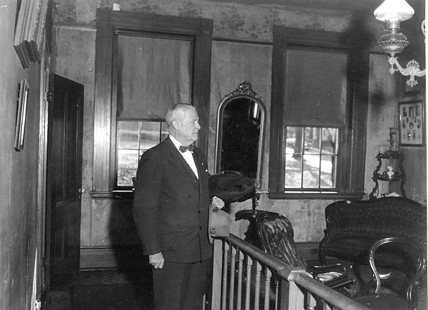 Ulysses S. Grant III in the parlor of the Grant Memorial Home. Photo from the Alfred Mueller Photo Collection