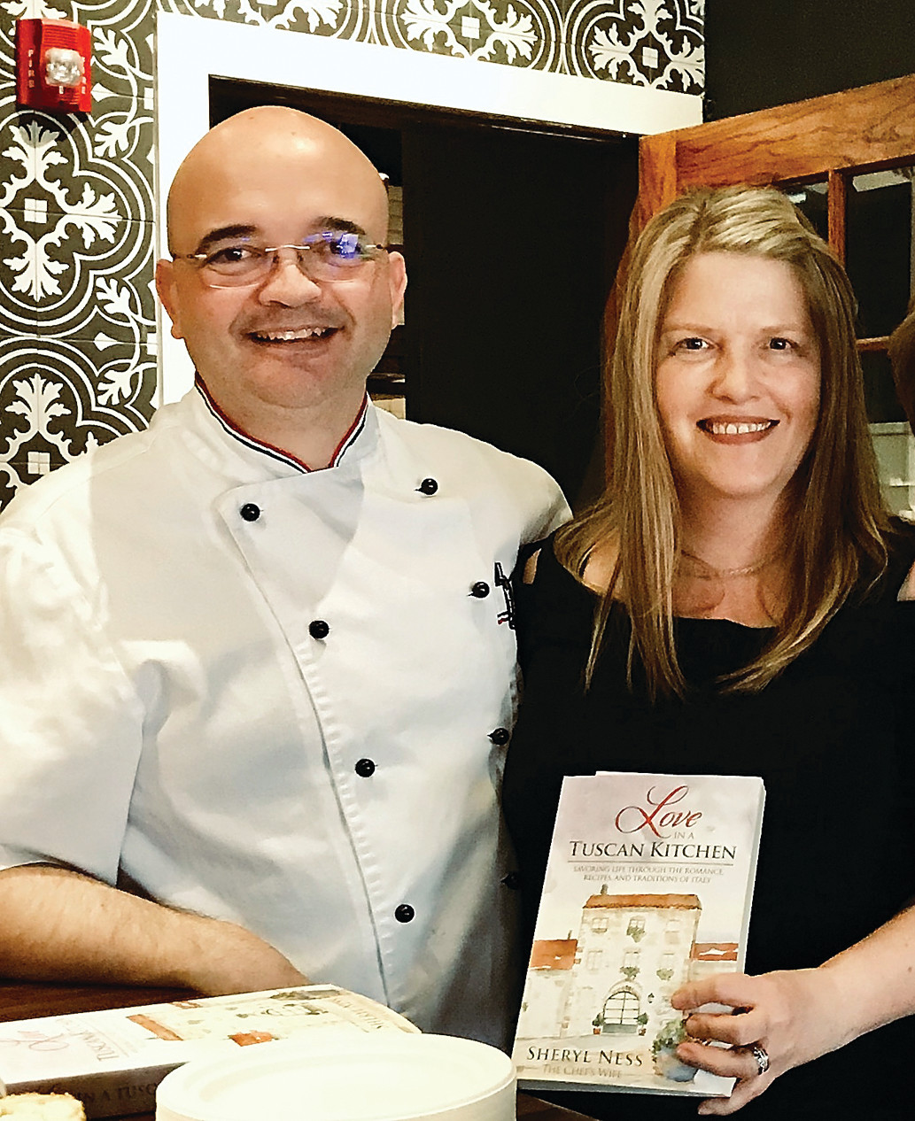 """Love in a Tuscan Kitchen "" author Sheryl Ness with her husband, Vincenzo Giangiordano."