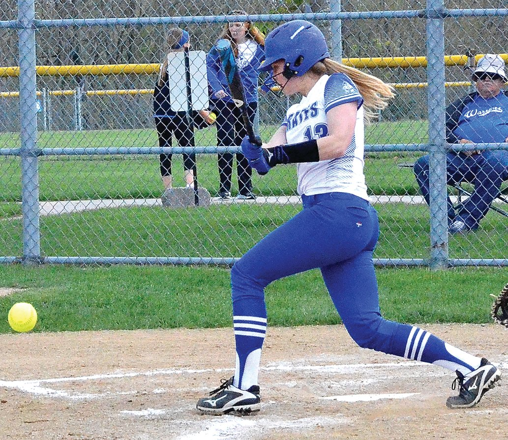 Galena senior Sami Wasmund gets a hit during her junior season. Wasmund's senior season was cut short due to the pandemic.