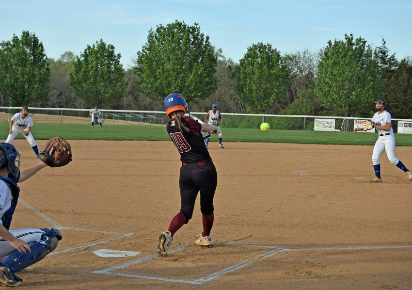 Anna Wood (19) was 5-for-5 at the plate for the Lady Bulldogs, who moved to 9-8 on the season.