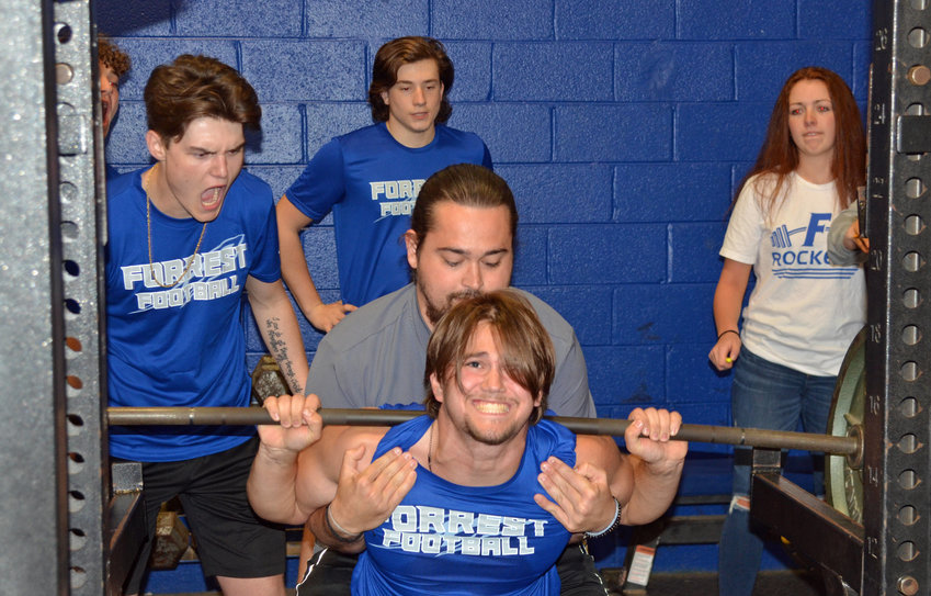 Brayden Jones swept all three lifting categories to finish in first place with a 1,035-pound total.