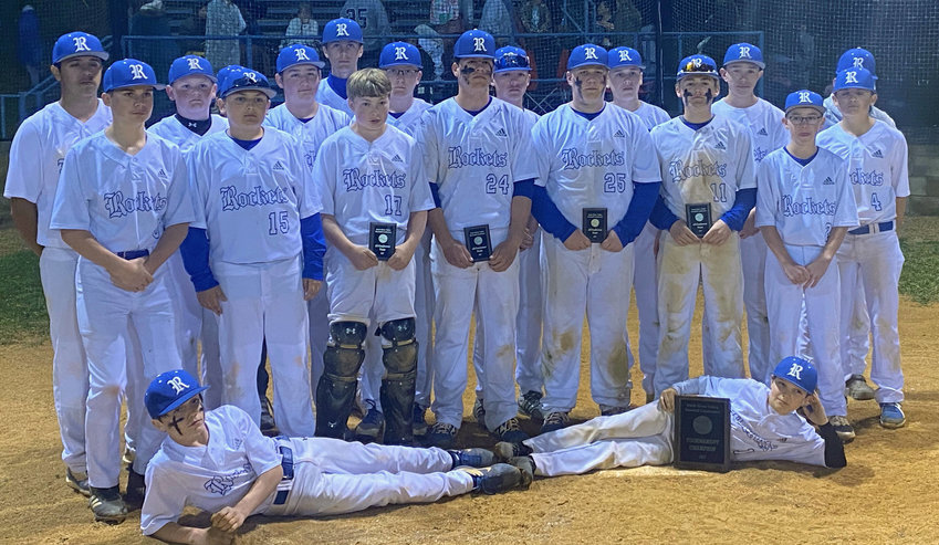 The FMS Rockets finished the season with a 20-0 record after defeating Moore County 6-3 in the Duck River Valley Conference championship game Thursday at Liberty Middle School.