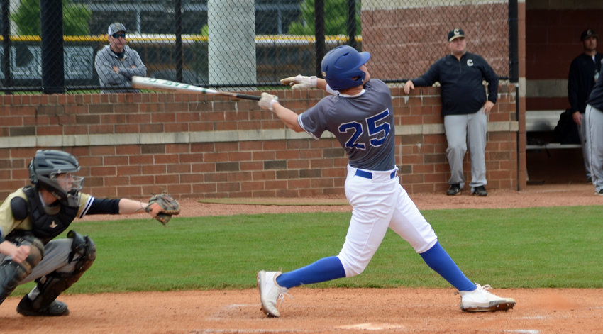 Max Kirby jacks a three-run home run in the top of the third inning to give Forrest a lead they would never surrender versus Murfreesboro Central Magnet School in Saturday's District 12-AA Tournament loser's bracket round at Nolensville.