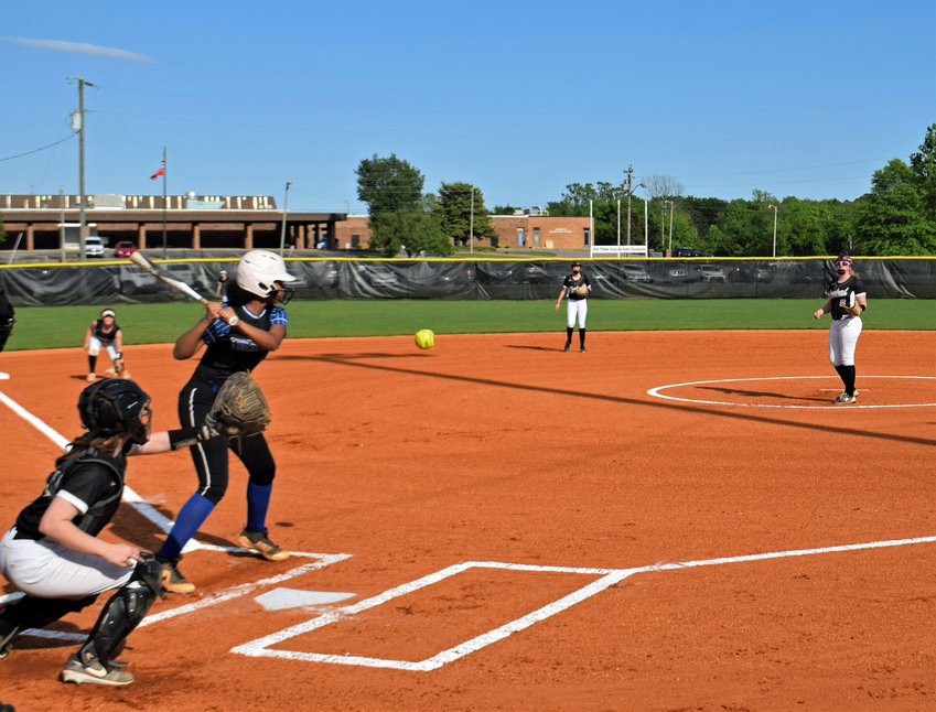 Demiyah Blackman (11) went 1-for-1 at the plate with a base on balls and two runs scored in Marshall County's 10-0 run-rule win over Murfreesboro Central Magnet School in the first round of the District 12-AA Tournament.