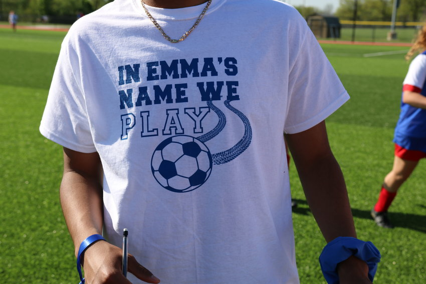 The Azdell family has established a scholarship in Emma's honor. The soccer team held t-shirt sales that raised more than $1,500 for the Emma Azdell Scholarship Fund. [Dave Faries]
