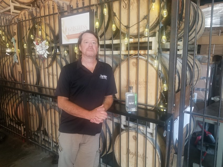 Van W. Hawxby, owner and distiller at Dog Master. [Dave Faries]