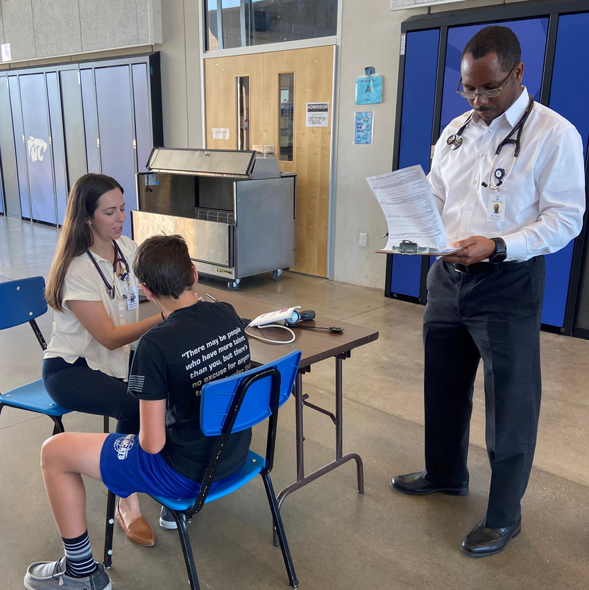 Free high school physicals were offered by Noble Health Foundation. [Submitted Photo]