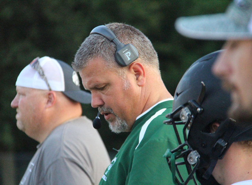 North Callaway football coach Travis Blevins and the Thunderbirds are 3-0 heading into Friday night's road game. [Nathan Lilley]