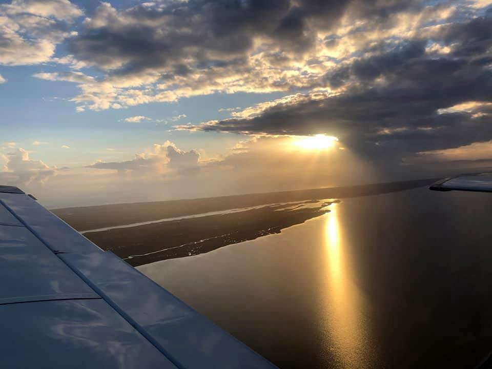 Thanksgiving afternoon, returning to Apalach after flying over St Joe.