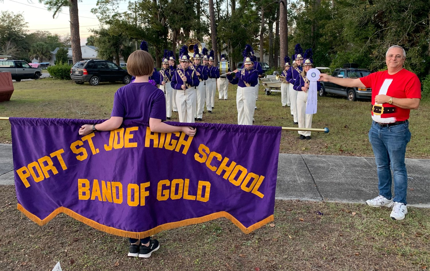 The Port St. Joe High School 'Band of Gold' took third place among Family and Friends.
