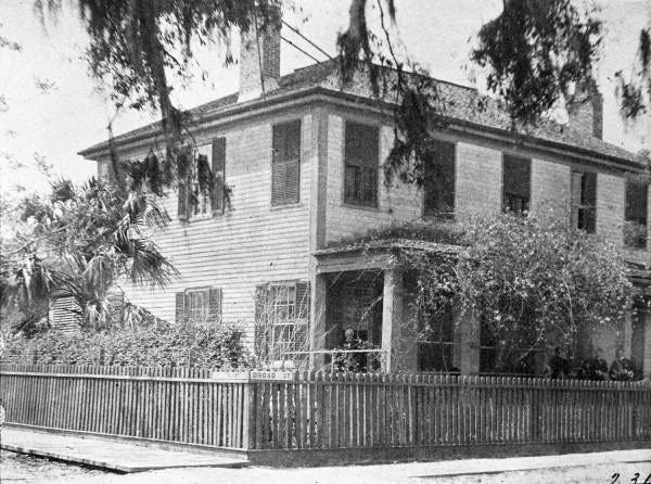 The Chapman House as it looked in 1896