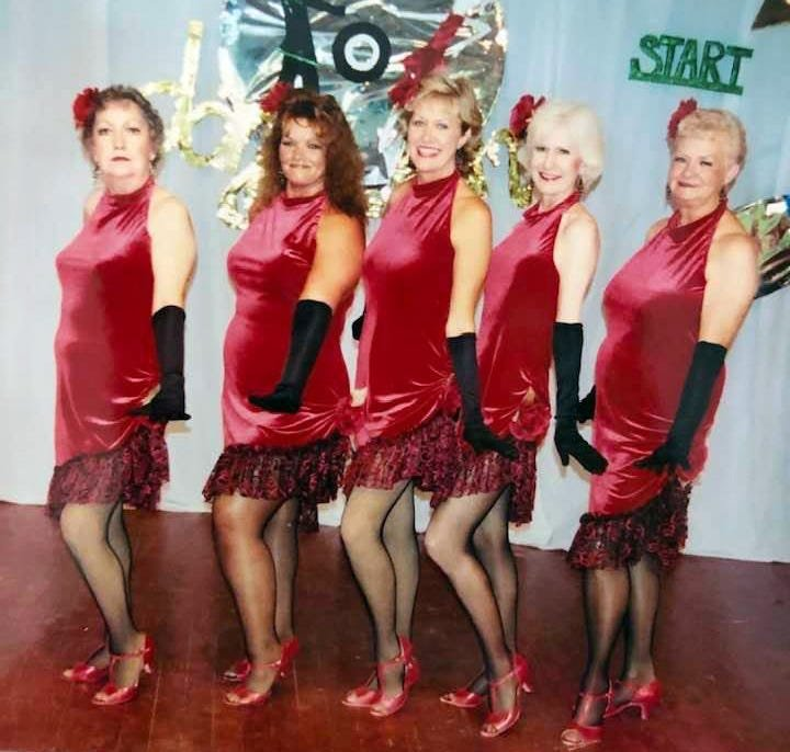 Pam Nobles, at center, with the Hot Flashes