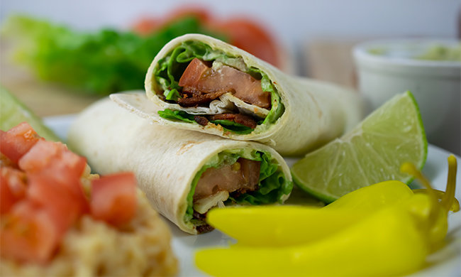 A Mouthwatering Wrap with an Avocado Addition