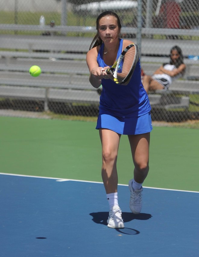 Ainsley Noel battled her way to the individual district championship match, but fell short of the title in the finals. She will participate in the upcoming region tournament, which will be held on May 17 in Murfreesboro.