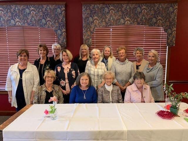 Shelbyville Garden Club members recently gathered for their May meeting recently at Riverbend Country Club. Members are involved in planning and finalizing programs for the new club year.