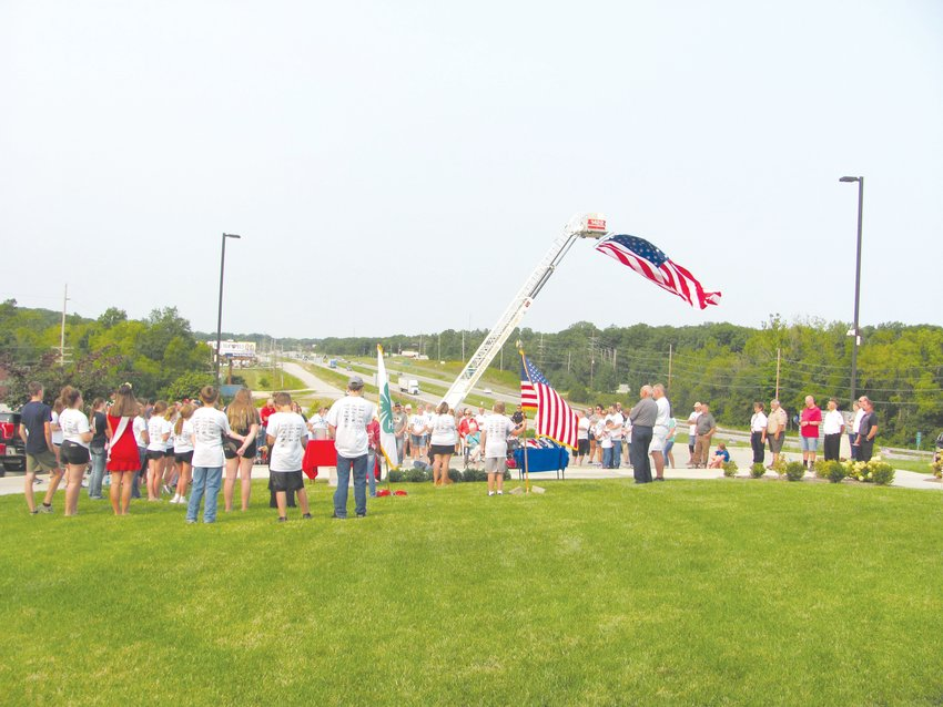 NEVER FORGET — Community organizations and residents attended a 9/11 ceremony on Saturday, Sept. 11, to mark the 20th anniversity of the terrorist attacks. The Prairie View 4-H Club and Warren County 4-H Council partnered with the Tribute to Veterans Memorial Committee to organize and host the event.