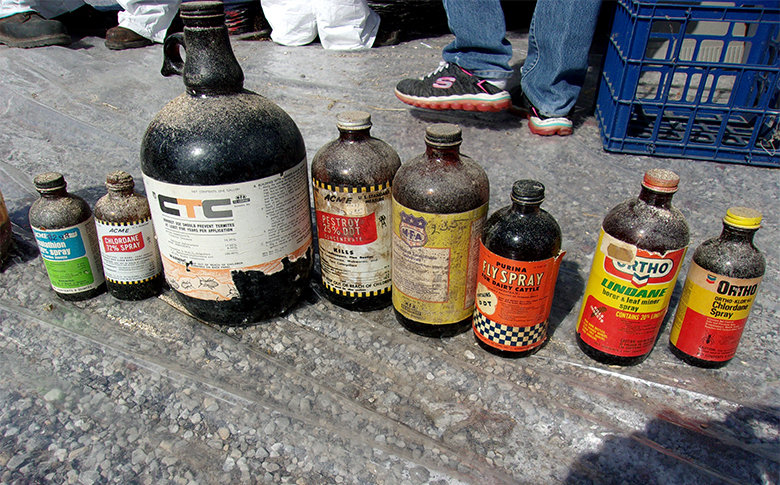 A variety of decades-old pesticide collected by the Missouri Department of Natural Resources.