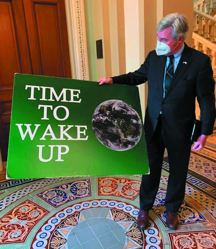 TIME TO WAKE UP: Last week Senator Sheldon Whitehouse ended his 'Time to wake up' climate change speeches after nine years and 279 speeches.