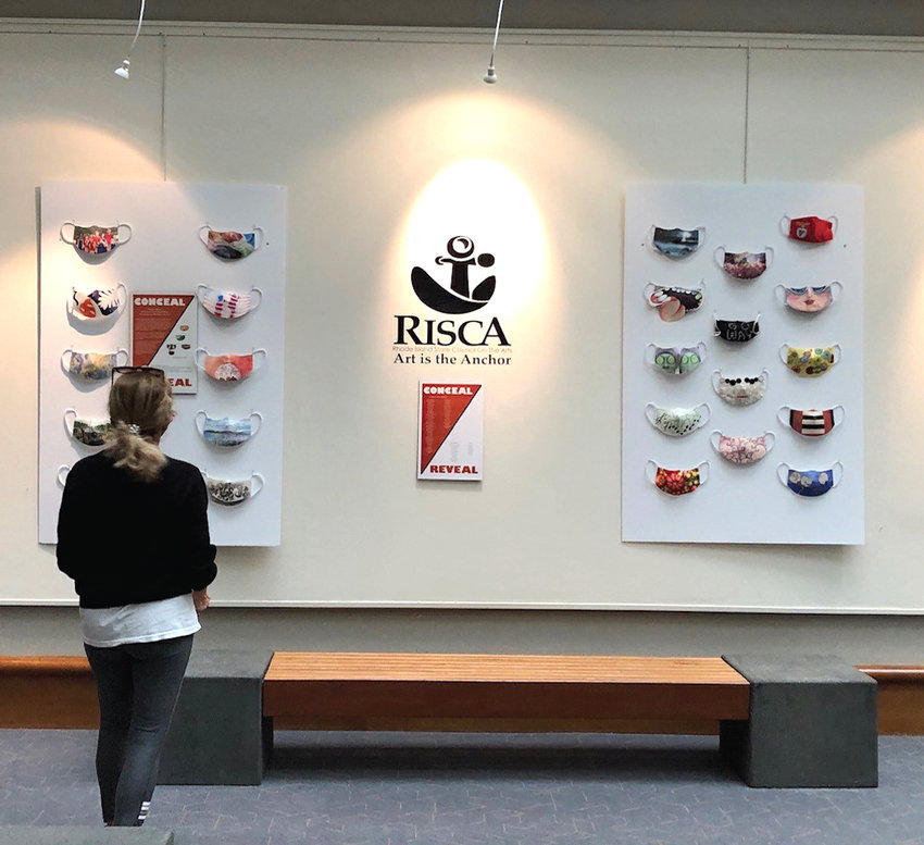 CONCEAL/REVEAL: Now on display in the Atrium Gallery on the main floor of the state's Administration Building is the Conceal/Reveal Mask Installation. Created during the pandemic, the handmade face masks examine the intersection of the arts and health.