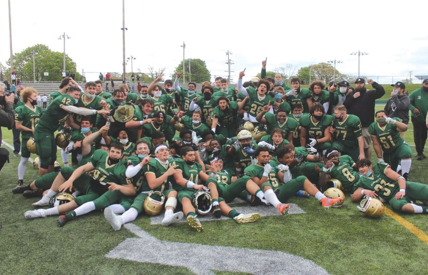 STATE CHAMPS: The Hendricken football team after winning the state championship.