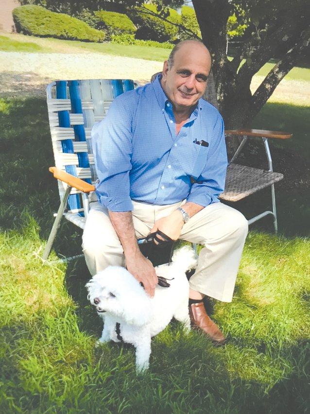 A GREAT FRIEND: Former Mayor Joseph J. Solomon with the family companion, Buddy.